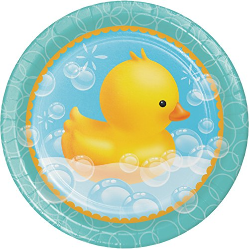 Rubber Duck Bubble Bath Paper Plates, 24 ct