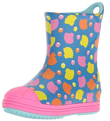 Graphic Rain Boot, Ocean/Multi, 7 M US Toddler ()