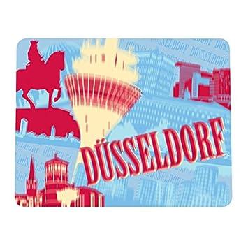 Stadt Düsseldorf Lentikular Mousepad Skyline Unterlage Mouse Pc