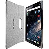 "Skinomi® TechSkin - Samsung Galaxy View Screen Protector 18.4"" + Brushed Aluminum Full Body Skin with Lifetime Warranty / Front & Back Wrap Clear Film / Ultra HD and Anti-Bubble Invisible Shield"