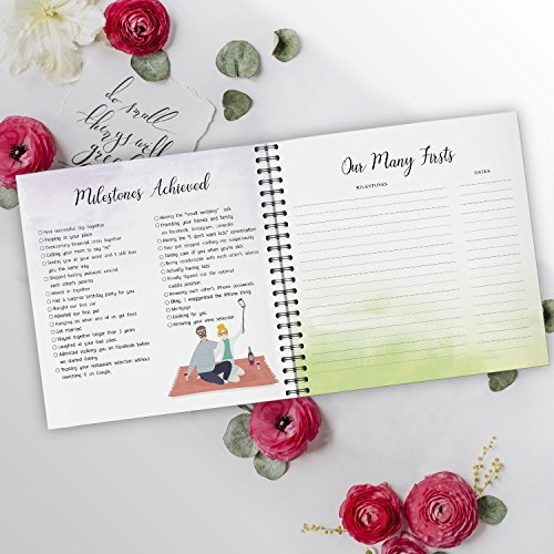 Pillow & Toast Our 1st Wedding Anniversary Journal: Memory Book & Photo Album Couples. Fill in Diary Proposal, Wedding Day Milestones. Bride Gift Ideas 2018! by Pillow & Toast (Image #7)