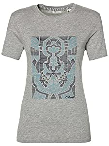 O'Neill Tees S/SLV Camiseta Manga Corta, Mujer, Gris (Silver Melee), L