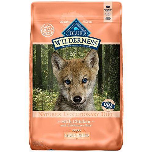 Blue Buffalo Wilderness High Protein Grain Free, Natural Large Breed Dry Dog Food, Chicken, 24Lbs