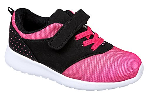 gibra - Zapatillas de sintético/textil para niño Negro - negro / rosa