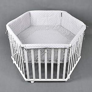Parc bébé de luxe parc enfant 6 square parc de bebe BLANC 52305 5