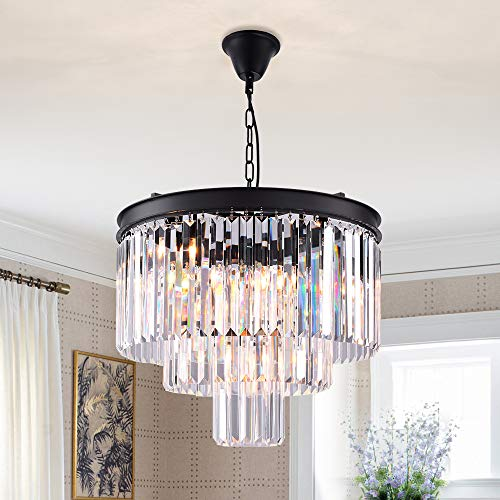 Zgear 7 Lights Luxury Modern/Contemporary Crystal Chandelier Ceiling Light Pendant Light for Dining Room, Living Room (7 Lights)