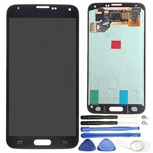 - Comfine Original OEM Replacement for Samsung Galaxy S5 LCD Display Screen + Touch Digitizer Assembly, for G900 G900A G900P G900T G900V G900R4 G900F, Repair Tools + Samsung Logo, Black