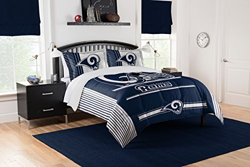 Officially Licensed NFL Los Angeles Rams Safety Full/Queen Comforter and 2 Sham Set