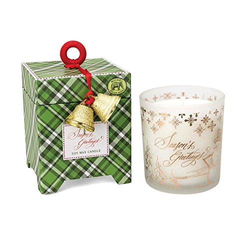- Michel Design Works Gift Boxed Soy Wax Candle, 6.5-Ounce, Season's Greetings