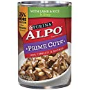 Purina ALPO Brand Dog Food Prime Cuts Lamb and Rice In Gravy Wet Dog Food, 22-Ounce Can, Pack of 12
