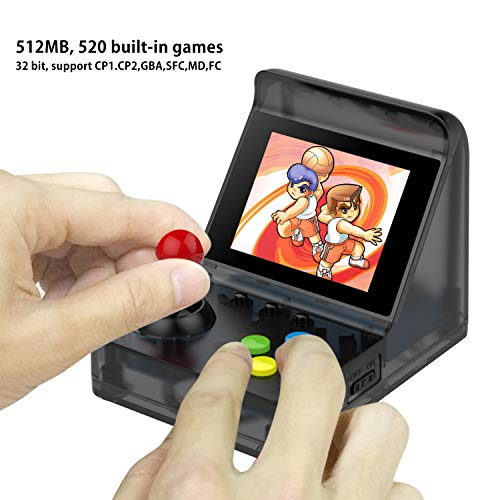 - BAORUITENG Handheld Game Console, Retro Arcade Mini Game Console for Game Player with 3 Inch 512 Games 32 Bit Portable Game Console,Birthday Gift for Children (t-Black)