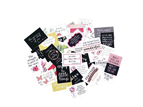Sprinkled Joy Designer Lunchbox Floral Motivational Notes - 50 Inspirational Cards ()