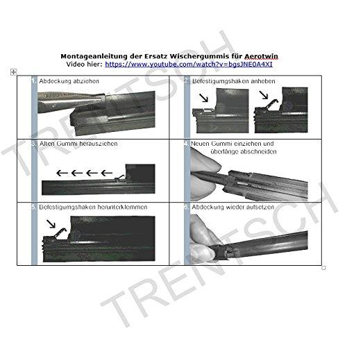 2 x Limpiaparabrisas para BOSCH 3397007100 nb10t-a100s Aerotwin Limpiaparabrisas 700/650: Amazon.es: Coche y moto
