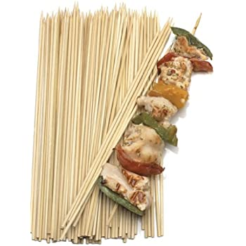 Gmark Bamboo Paddle Skewers 8 100pc//Bag BBQ Skewers for Outdoor Grilling GM1076 Kabob Skewers