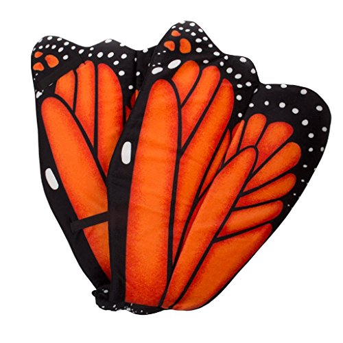 Monarch Butterfly Child Costumes (Wildlife Tree Plush Orange Monarch Butterfly Wings for Orange Butterly Costume, Kids Cosplay and Pretend Play)