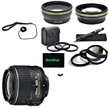 For Nikon D3100: Nikon AF-S DX NIKKOR 18-55mm f/3.5-5.6G VR II USA Pro Kit Lens and Filter Bundle Package Includes:+ 1x