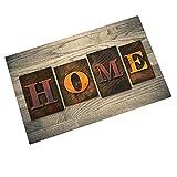 Customized Countryside Old Barn Wooden Door Art Door mat Indoor/Outdoor/Front Door/Bathroom Mats Rubber Non Slip (23.6 L x 15.7 W)