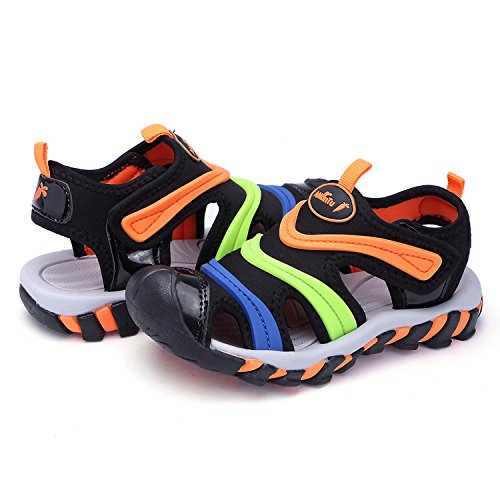 Pictures of BTDREAM Boy's and Girl's Sports Black Orange US Little Kid 1.5 2