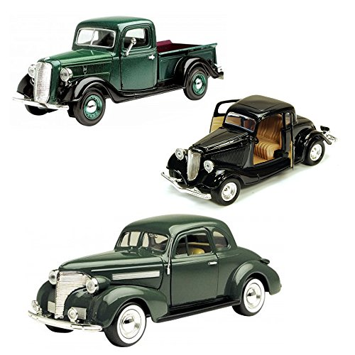 Best of 1930s Diecast Cars - Set 10 - Set of Three 1/24 Scale Diecast Model Cars (1930 Truck)