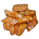Hypnotic Gems Materials: 2 lb Bulk Rough Golden Orange Citrine Stones from India - Raw Natural Crystals and Rocks for Cabbing, Lapidary, Tumbling, Polishing, Wire Wrapping, Wicca and Reiki
