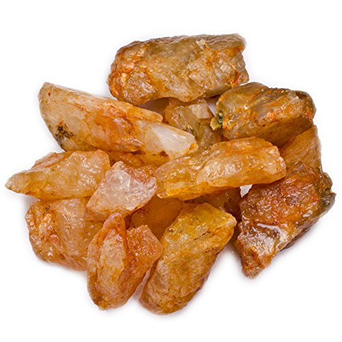 (Hypnotic Gems Materials: 1 lb Bulk Rough Golden Orange Citrine Stones from India - Raw Natural Crystals and Rocks for Cabbing, Lapidary, Tumbling, Polishing, Wire Wrapping, Wicca and Reiki )