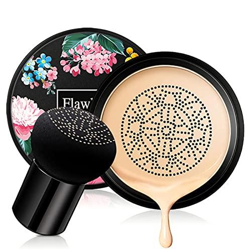 Mushroom Head Air Cushion CC Cream, Concealer Lasting Nude Makeup Moisturizing BB Liquid Foundation, Even Skin Tone…