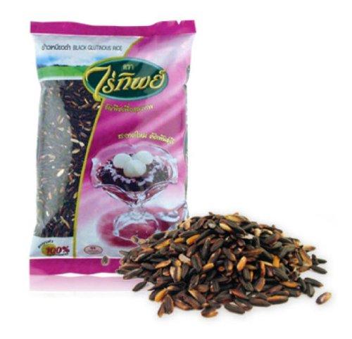 Raitip - Thai Black Glutinous Rice (500g.) Mung Beans, White Beans, Cooking Beans, Mung Bean Seeds, Dried Beans, Mung Bean, Dry Beans, Healthy Cereal, Healthy Cereals, Best Cereal, Best Cereals, Sesame Seed, Sesame Seeds, Black Sesame, Herb Seeds, Grains, by Raitip