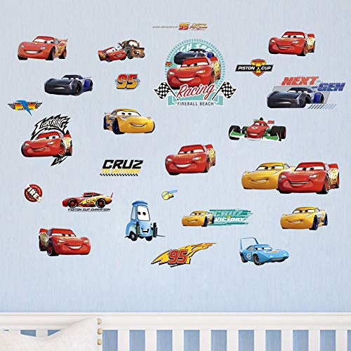 decalmile Racing Cars Boys Wall Sticker Kids Room Wall Decor Removable Wall Decals for Baby Nursery Childrens Bedroom Playroom ()
