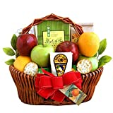 Fresh Fruit Gift Basket | Includes Cheese, Crackers, Nuts and Cookies