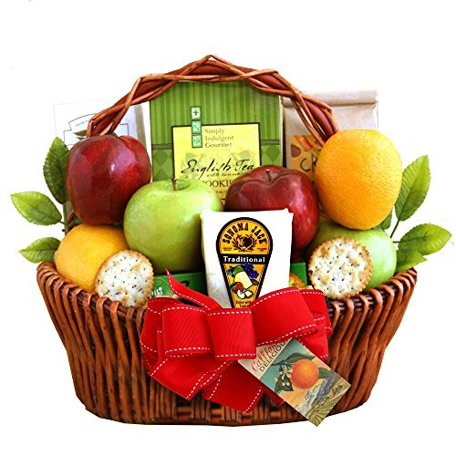 Fresh Fruit Gift Basket | Includes Cheese, Crackers, Nuts and Cookies by Gifts to Impress