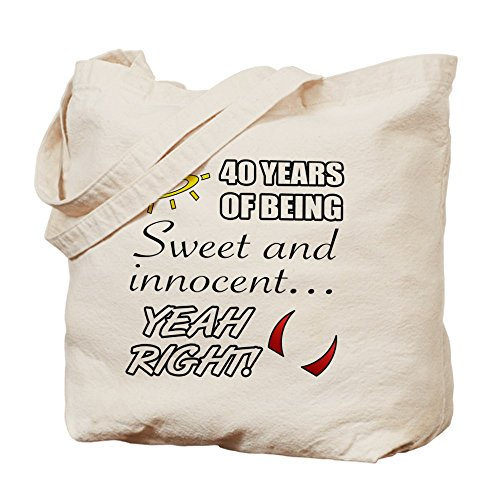 CafePress–diseño de 40th cumpleaños humor–Gamuza de bolsa de lona bolsa, bolsa de la compra