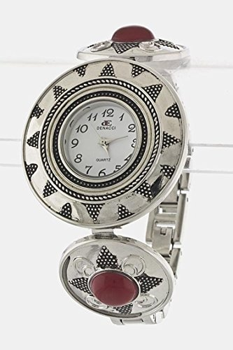 Emerald Fine Watch (Karmas Canvas Antique Stone Watch (Red))