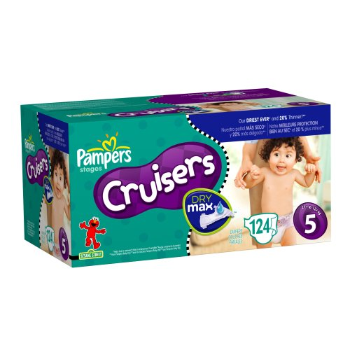 Pampers Cruisers Dry Max Diapers, Size 5, 124 Count ()