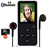 MP3 Player with Bluetooth,8GB Bluetooth MP3 Music Player with FM Radio/Speaker,Lossless Sound,Support Shuffle,Voice Recorder,Video,Photo,EBook,Pedometer for Running Walking(Include 32GB SD Card)