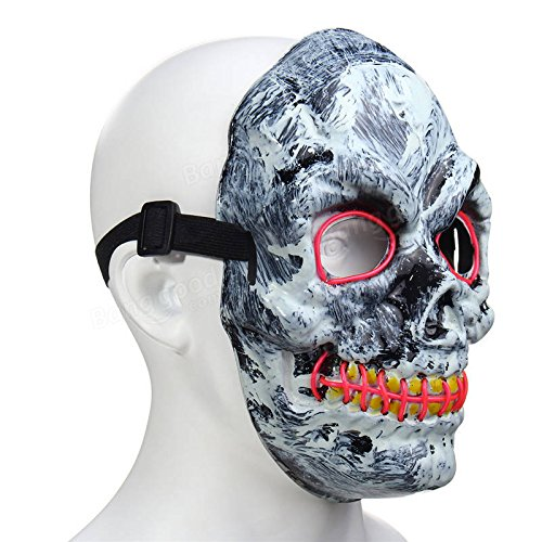 Amazon.com: Guided Cloak - Novelty Led Skeleton Skull Mask Fancy Scary Halloween Adult Costume Accessory - Conducted Masquerade Light-Emitting Diode Masque ...
