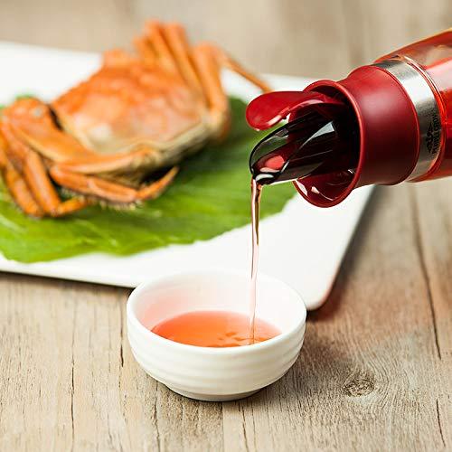 PURPLECROWN 500ml Olive Oil Dispenser Bottle,Seasoning bottle Condiment Oil Glass Bottle