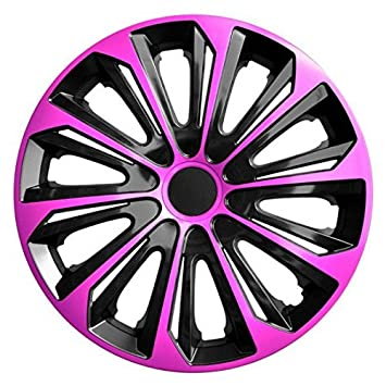 """Tapacubos STRONG DUOCOLOR ROSA-NEGRO 4 pzs (15"""")"""