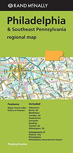 Folded Map Philadelphia/Se Pa Regional (Rand McNally Regional Map)