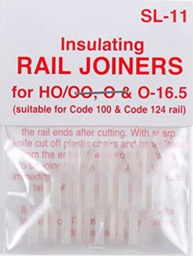 Insulated Joiners - Peco SL-11 HO Code 100 Insulated Rail Joiner 12 Pack