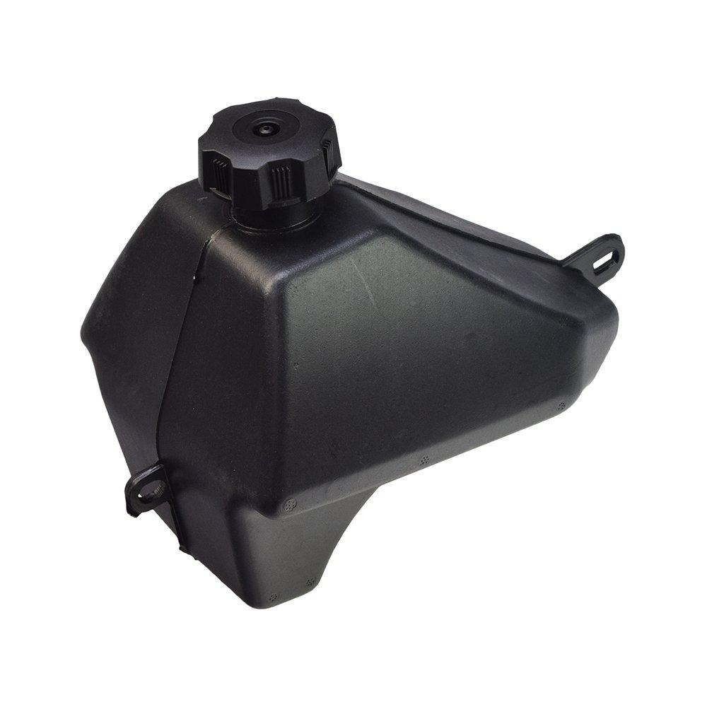 AlveyTech Black Plastic Fuel Tank for 50cc, 70cc, 90cc, 110cc ATVs from Baja Motorsports, Roketa, SunL, Taotao by AlveyTech