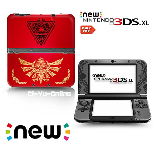 Ci-Yu-Online VINYL SKIN [new 3DS XL] - The Legend of Zelda: Triforce Heroes Hyrule #2 Red - Limited Edition STICKER DECAL COVER for NEW Nintendo 3DS XL / LL Console System