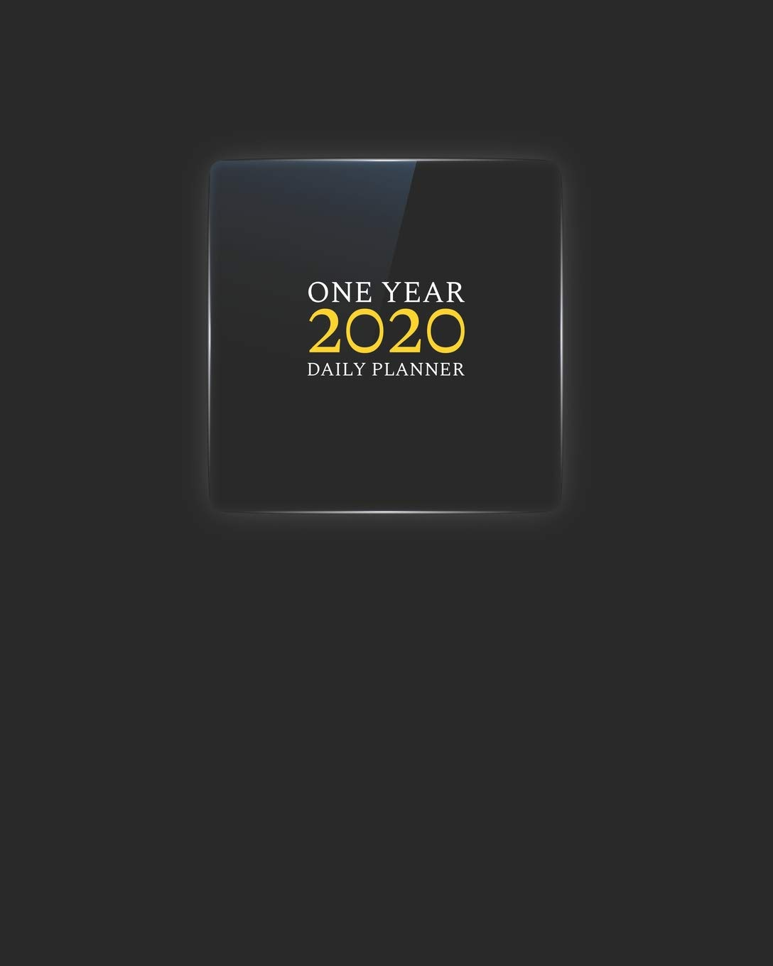 2020 One Year Daily Planner: Elegant Black Glass Daily ...