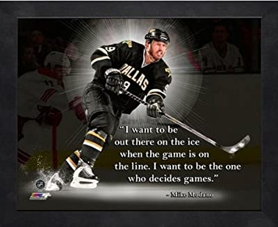 Mike Modano Dallas Stars NHL Pro Quotes Framed 12x15 Photo