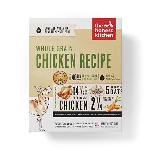 Honest Kitchen Human Grade Dehydrated Organic Grain Chicken Dog Food Box, 10 lb (10 Best Dog Foods)