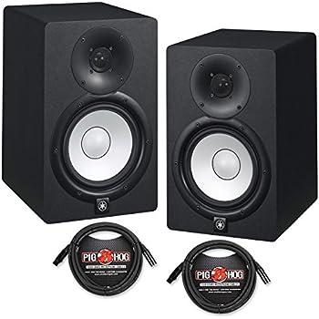 yamaha hs7 powered studio monitors pair black. Black Bedroom Furniture Sets. Home Design Ideas