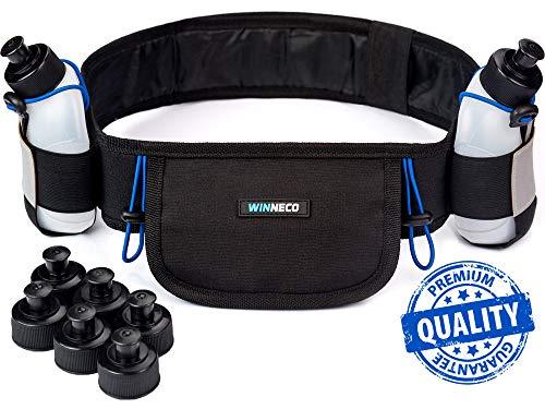 - Running Belt - Hydration Belt - Water Belt with 2 BPA Free 9 OZ Bottles - Fuel Belt Fits All Smartphones - Reflective Waterproof Running Gear - Men or Women Runners Belt - Waist Pouch - Fanny Pack