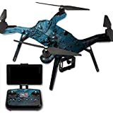 MightySkins Protective Vinyl Skin Decal for 3DR Solo Drone Quadcopter wrap cover sticker skins Blue Storm