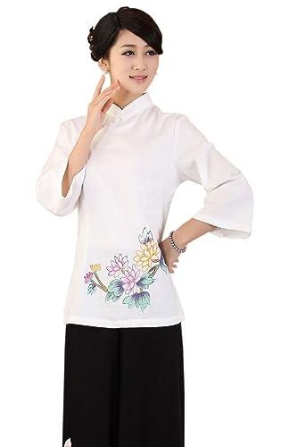 XueXian(TM) Mujer de Tang de Elegante Oriental de Ropa de Bonito Flores