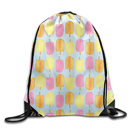 Gym Drawstring Bags Popsicles Iphone Wallpaper Draw Rope Shopping Travel Backpack Tote Student Camping -