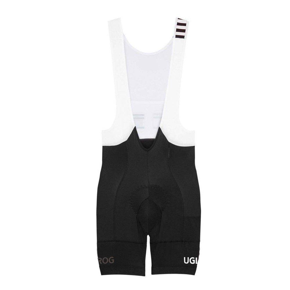 Uglyfrog Ssportern 2016新作夏クラシックレトロホワイトパッド入りMTB Pro Team Bib ShortトライアスロンWear B014GOJ7QS Size Large ブラック/ホワイト ブラック/ホワイト Size Large